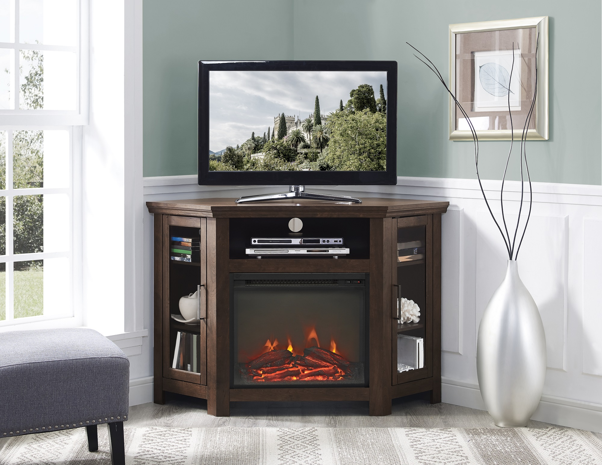 best-corner-fireplace-tv-stand