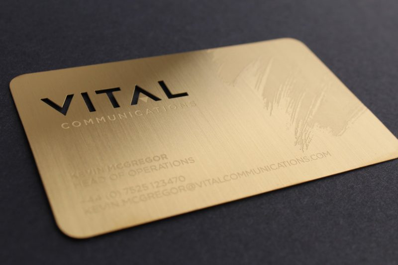 metal business cards for sale